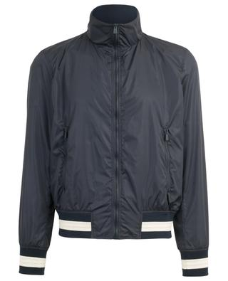 Bally Stripe lightweight bomber jacket with knit details BALLY