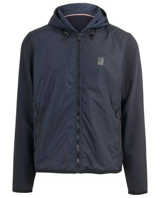 Multi Layer hooded nylon jacket with zipper BALLY