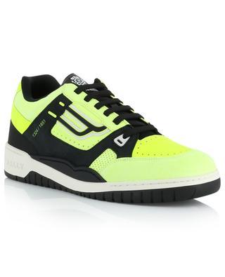 Neonfarbene Materialmix-Sneakers Kuba Champion BALLY