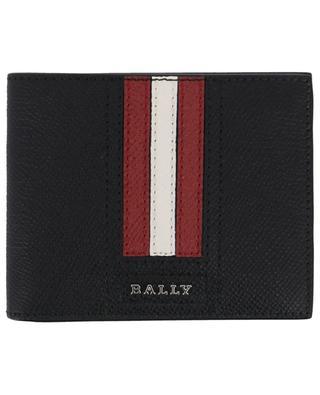 Tevye stripe detail leather wallet BALLY