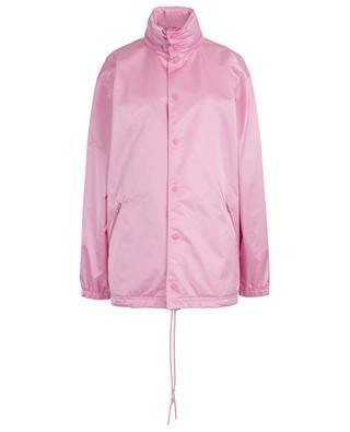 Manteau de pluie en satin de nylon Logo BALENCIAGA