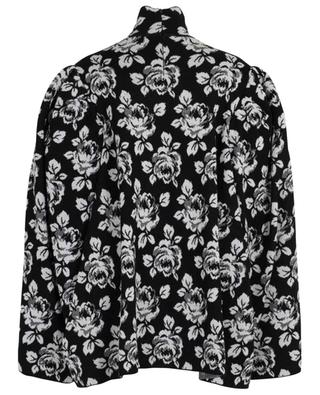 Roses Jacquard oversize jumper with stand-up collar BALENCIAGA