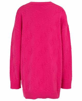 Oversize-Pullover aus Baumwolle 3D Allover Logo BALENCIAGA