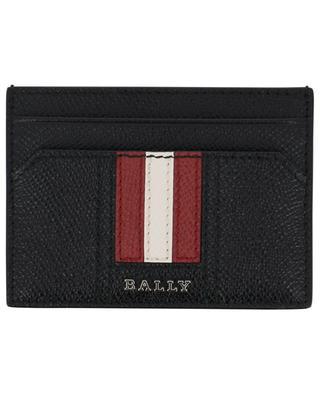Thar stripe detail leather card holder BALLY
