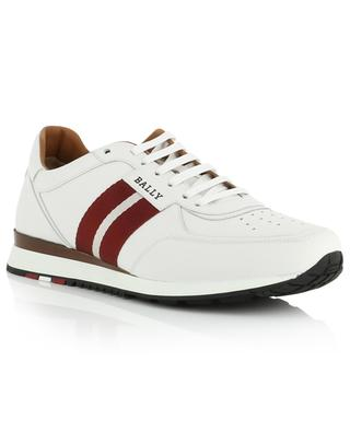 Aston New grosgrain detail leather sneakers BALLY