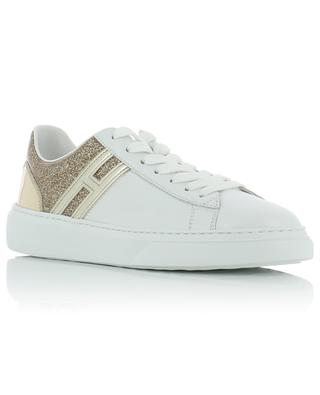 H365 leather sneakers with golden glitter HOGAN