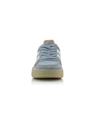 H357 Retro Volley glittering denim and suede sneakers HOGAN