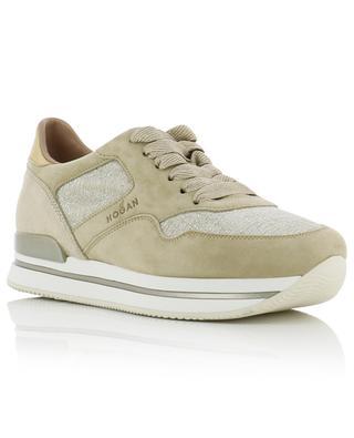 H222 Lurex embellished multi-material sneakers HOGAN