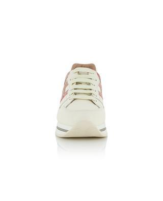 Keilsneakers aus Leder mit Eidechsenprint H222 HOGAN