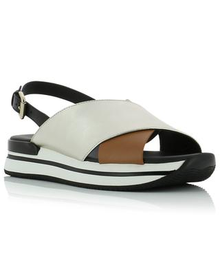 H222 smooth and metalic leather sandals HOGAN