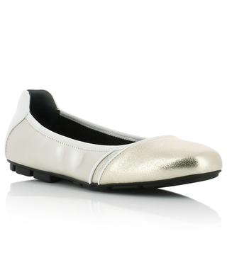 H511 metallic leather ballet flats HOGAN
