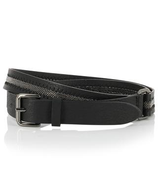 Leather belt with brass bead FABIANA FILIPPI