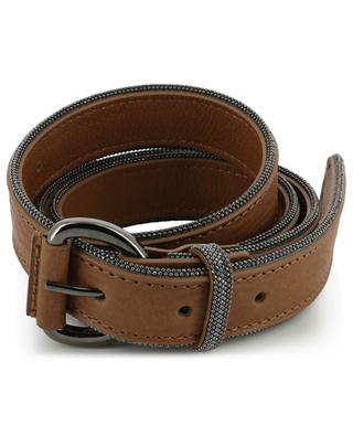Rhinestone adorned leather belt FABIANA FILIPPI