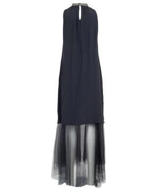 Langes A-förmiges Kleid aus Crêpe und Tüll FABIANA FILIPPI