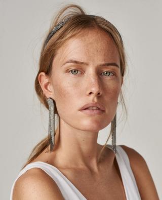 Rhinestone long earrings FABIANA FILIPPI