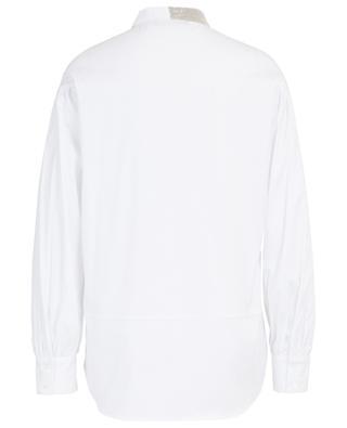 Hemd aus Popeline mit besticktem Schluppenkragen FABIANA FILIPPI