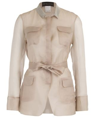 Embroidered safari spirit organza jacket FABIANA FILIPPI