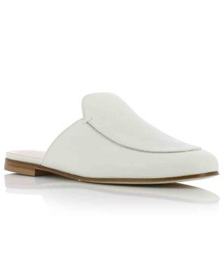 Flat leather slides with rhinestone FABIANA FILIPPI
