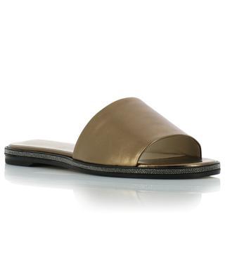 Metallic leather flat slides FABIANA FILIPPI