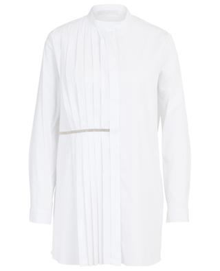 Oversize-Hemd aus Popeline mit plissierten Details FABIANA FILIPPI