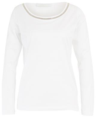 Bead embroidered long-sleeved T-shirt FABIANA FILIPPI
