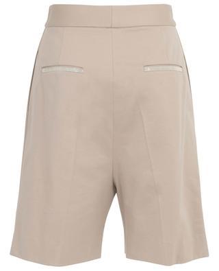 Shorts mit hoher Taille aus Jersey mit Perlenstickereien FABIANA FILIPPI