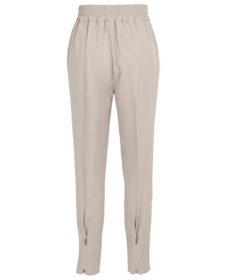 Wool carrot trousers with zippers FABIANA FILIPPI