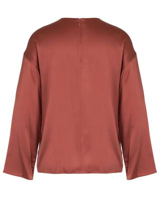 Long-sleeved silk top with wrap detail VINCE