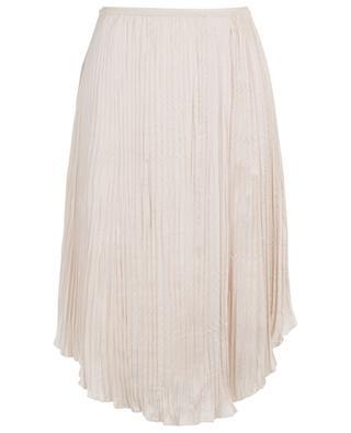 Asymmetric pleated crepe skirt VINCE
