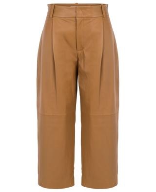 Leather wide leg cropped trousers VINCE
