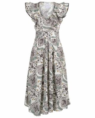 Coraline printed ruffled midi dress ISABEL MARANT
