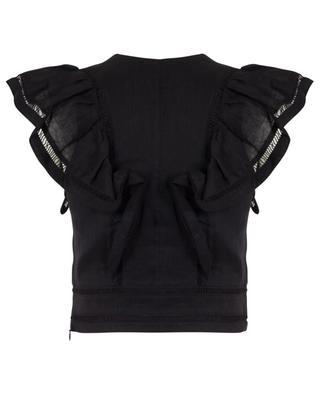 April sleeveless ruffled V-neck top ISABEL MARANT