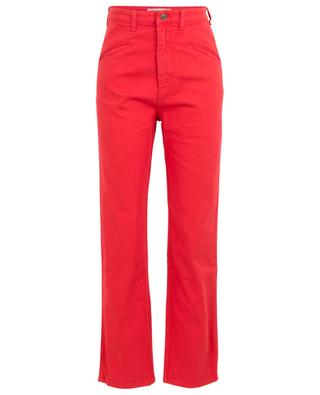 Red denim straight-fit high-rise jeans PHILOSOPHY