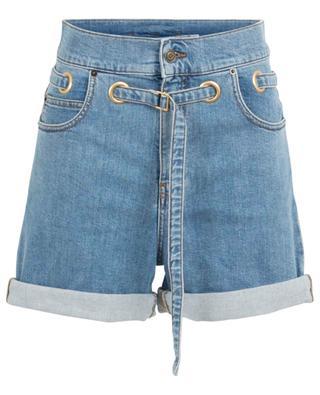 Jeansshorts mit hoher Taille und Ösendetail PHILOSOPHY