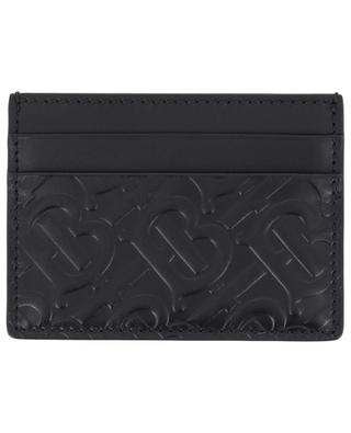 Monogram leather card holder BURBERRY