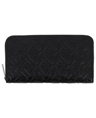 Monogram long zip-around leather wallet BURBERRY
