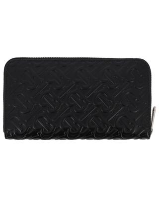 Monogram long zip-around leather wallet BURBERRY