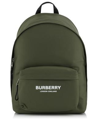 Sac à dos en nylon logo imprimé BURBERRY