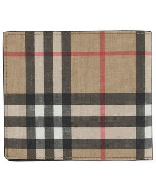 Portefeuille en cuir orné de carreaux Vintage Check BURBERRY
