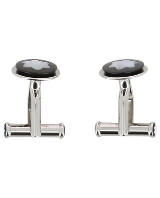 Round cufflinks with mother-of-pearl emblem MONTBLANC