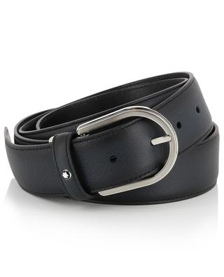 Business leather belt in sfumato effect MONTBLANC