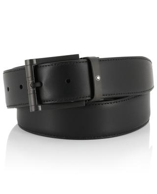 Casual leather belt with black buckle MONTBLANC