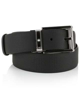 Carbon effect casual leather belt MONTBLANC