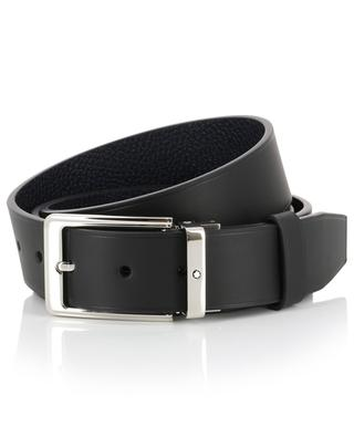 Black and navy blue reversible belt MONTBLANC