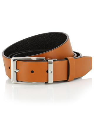 Camel and dark brown reversible belt MONTBLANC