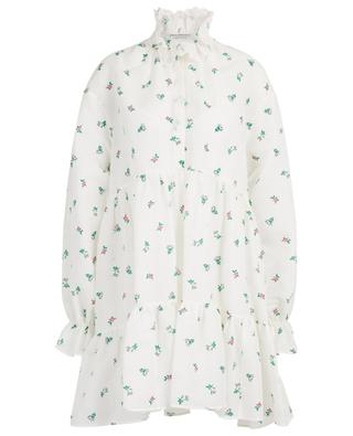 Floral linen and cotton veil A-line mini dress PHILOSOPHY