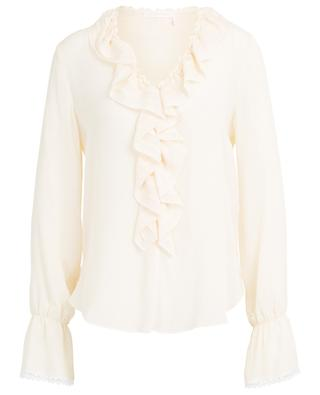 Ruffle and lace adorned crepe blouse SEE BY CHLOE