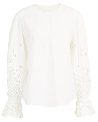 Poplin blouse with embroidered puff sleeves SEE BY CHLOE