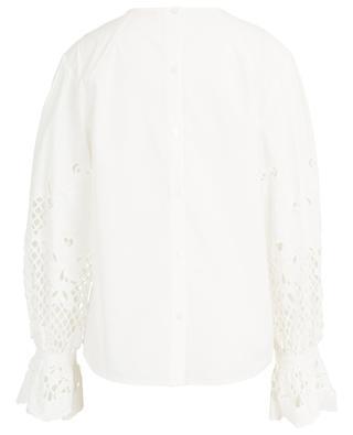 Popeline-Bluse mit bestickten Puffärmeln SEE BY CHLOE