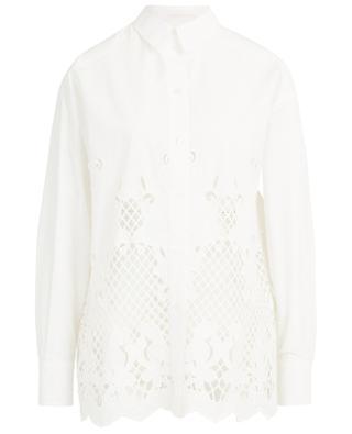 Loose geometric openwork stitching poplin shirt SEE BY CHLOE